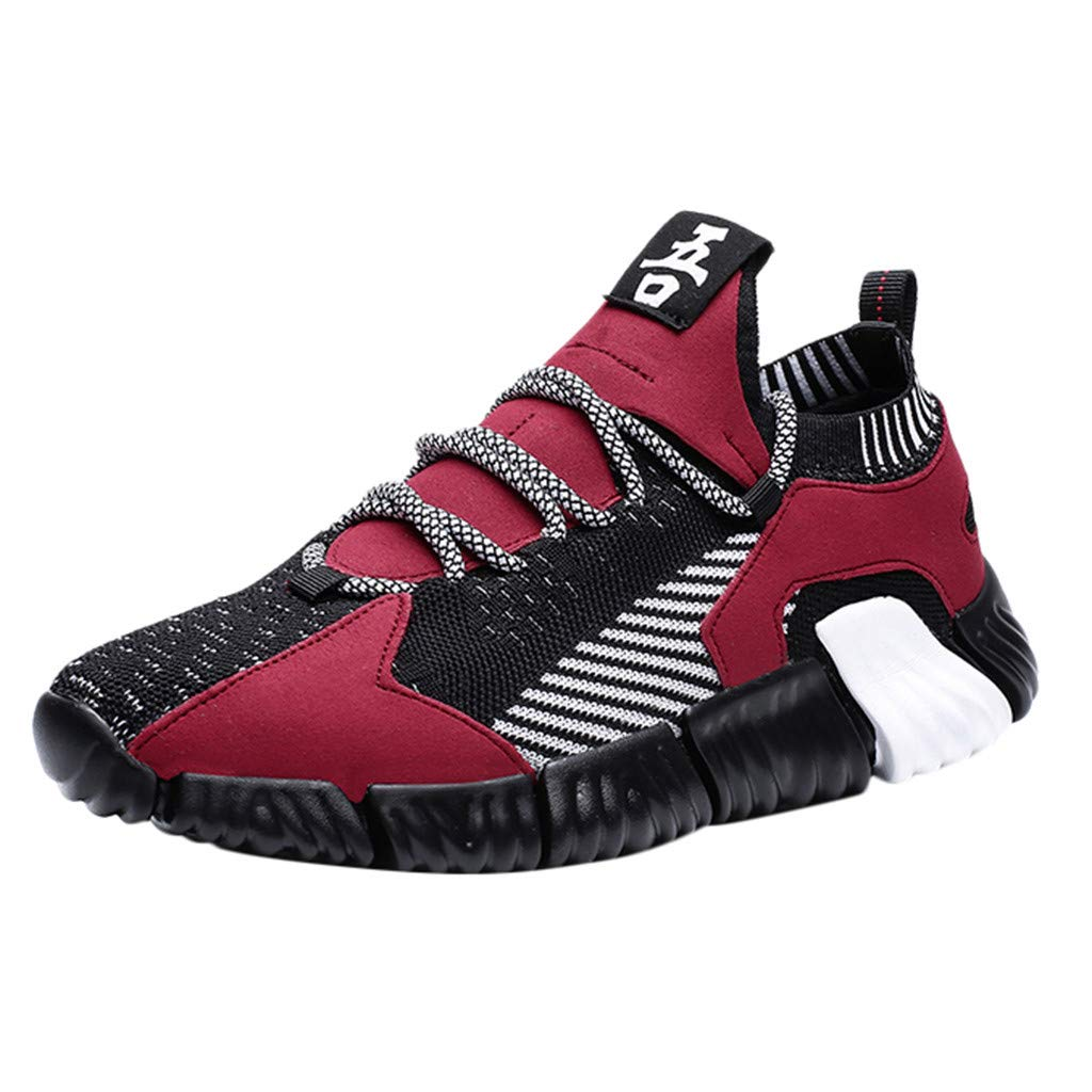 Street Sneakers Men Work Sneakers ✔ Men Fashion Wild Mix Colors Casual Shoes Comfortable Breathable Low-Top Sneakers Red