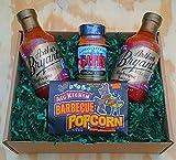 kansas city bbq gift - Arthur Bryant's Rich & Spicy Barbeque Sauce Combo: 2 Bottles + Seasoning Dry Rub + Popcorn Snack (Kansas City Barbecue)