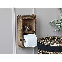 Chic Antique Wand- toiletpapier- wc-rolhouder baksteenvorm hout
