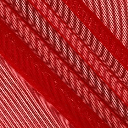 TELIO Stretch Nylon Mesh Knit Scarlett Fabric by The Yard, Scarlett