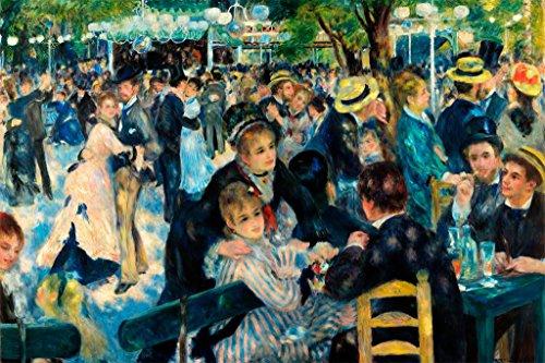 ArtParisienne Dance at Le Moulin De La Galette by Pierre-Auguste Renoir Wall Decal, 36