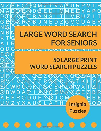 Large Word Search For Seniors: One Puzzle Per Page