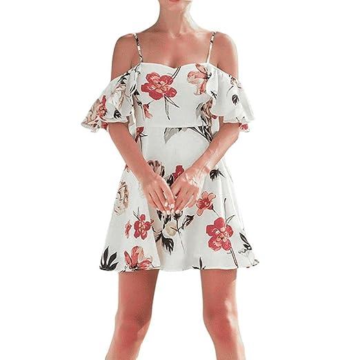 Vestido Para Mujer, BBestseller mujeres señoras sin mangas vestidos de verano playa vacaciones floral mini