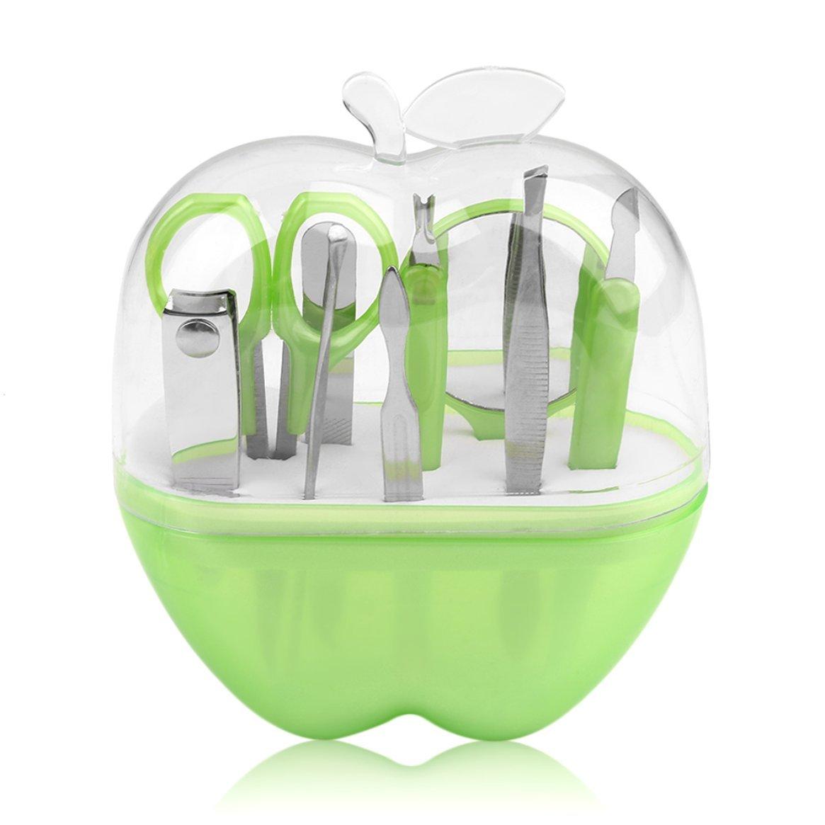 Forma de manzanas 9pcs manicura de acero inoxidable Set ...