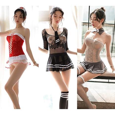 AA- Adult Products Ropa Interior de Mujer tentación Uniforme Traje ...