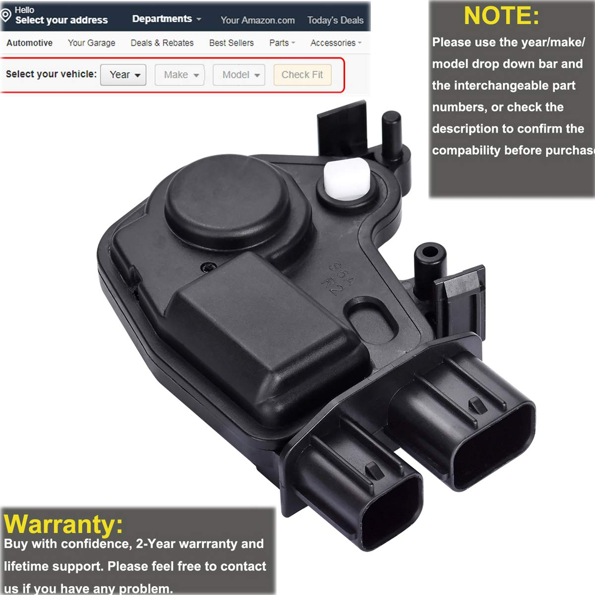 FAERSI Door Lock Actuator Front Right for Honda 2005-2010 Odyssey /& 2003-2008 Pilot /& 2001-2005 Civic /& 2003-2007 Accord Acura RSX 2002 2003 2004 2005 2006 Replaces #72115-S6A-J01 72115-S6A-J11
