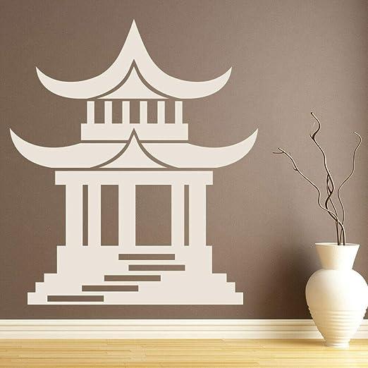 YuanMinglu Templo japonés religioso Pegatinas de Pared Sala ...