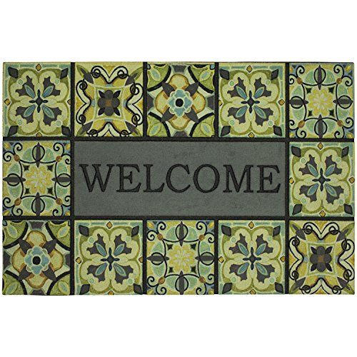 - Mohawk Home Doorscapes Bohemian Tiles Gray All All Weather Rubber Durable Non Slip Entry Way Indoor/Outdoor Welcome Door Mat, 23 x 35 Inch,