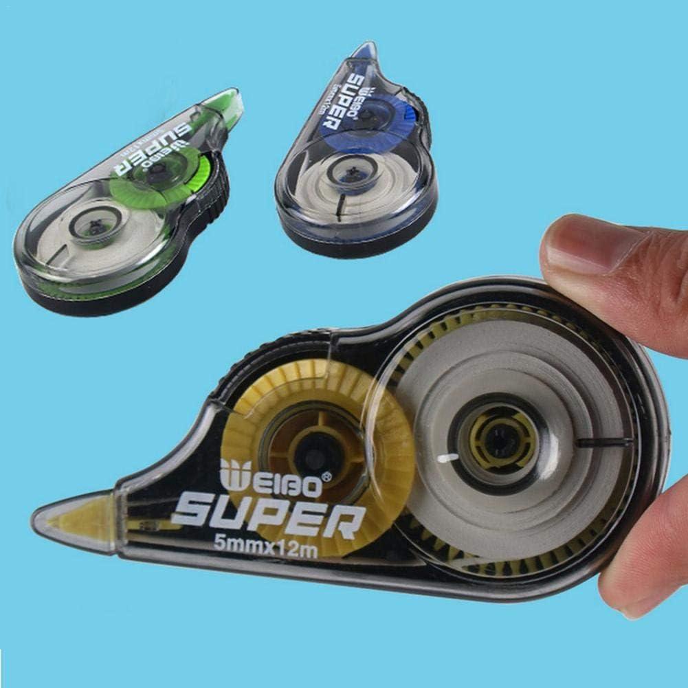 applicateur longue dur/ée Set Correction Roller Correction Tape Set Correction Mouse , Correction Tape Boxed Transparent Film White Tape Accessoires de papeterie /étudiants simples et mignons 6PCS