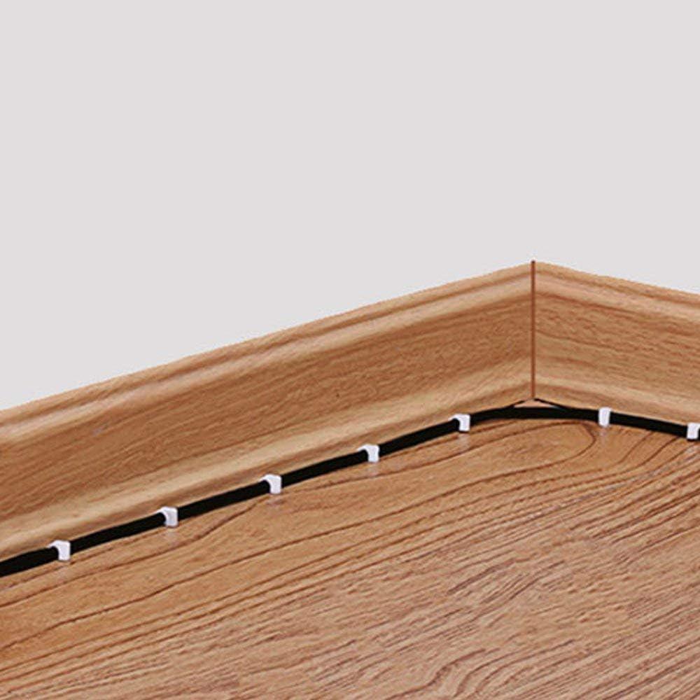 forma cuadrada ZHITING Clips de cable Clavos de 7 mm CAT6 RG59 cable coaxial RJ45 para cable RG6 cable Ethernet(100 piezas) versi/ón mejorada de una abrazadera de cable de clavo /único