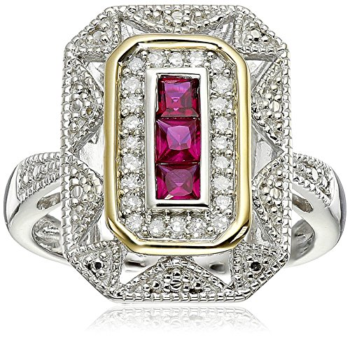 art deco ruby ring - 1