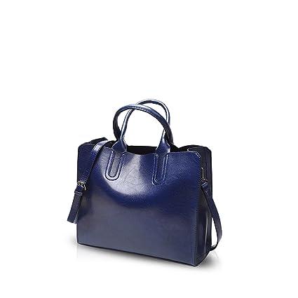 NICOLE&DORIS Mode Bolsos de Mano para Mujer Monederos Bolso Crossbody Mujer Bolso de Bandolera Bolsa Tote Durable PU Azul
