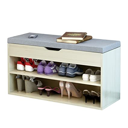 Delicieux Dland Storage Bench Hall Entryway 2 Tier Shoe Bench Racks Leather Top Sofa  Style,