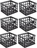 MRT SUPPLY Plastic Black Storage Box Milk Crate Containers Home (6 Pack) Ebook