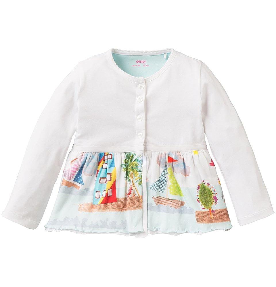 Oilily Tjoek jersey cardigan - Camiseta para niñas, color white 001, talla 10 años/140: Amazon.es: Ropa y accesorios