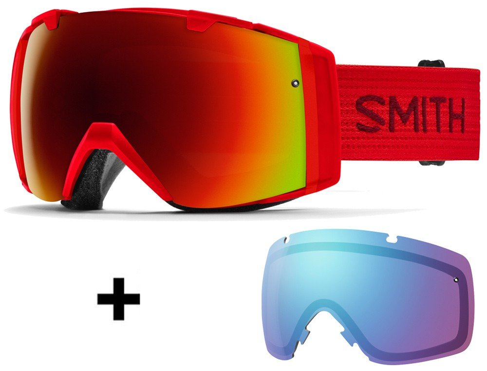 Smith Set Vantage Mips Casco de esquí Matte Black Fire + Smith I/O Gafas de esquí fire Incluye 2 discos, color monocolor, tamaño medium: Amazon.es: Deportes ...