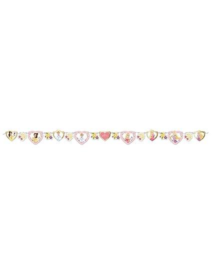 COOLMP - Juego de 6 guirnaldas de cartón Premium Princesas ...