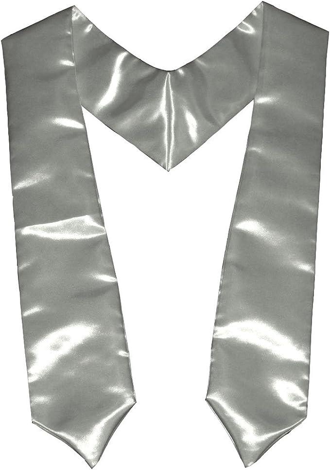 Silver LA Linen 5 by 72 Bridal Satin Graduation Sash//Stole//Pack of 1