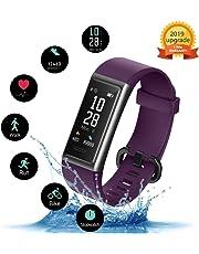 KUNGIX Fitness Tracker Orologio, Smartwatch Uomo Donna Cardiofrequenzimetro da, Polso Pressione Sanguigna Impermeabile IP68 Smartband Braccialetto per Android iOS Xiaomi Huawei
