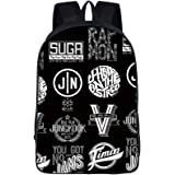 BTS Suga Letter Printed Fashion School Backpack Student Women Men Casual Backpack Shoulder Bags