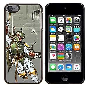 Boba Fett - Hunter- Metal de aluminio y de plástico duro Caja del teléfono - Negro - iPod Touch 6