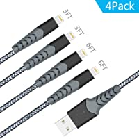 Deals on 4 Pack Aoshitai 3Ft 6Ft Nylon Braided Phone Charger Cable