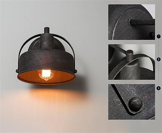 Industriale retro creativo di ferro glassato lampada da