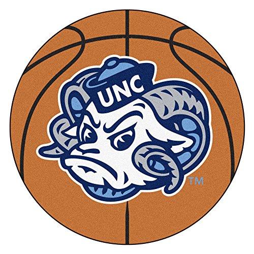 NCAA University of North Carolina - Chapel Hill Tar Heels Basketball Shaped Mat Area Rug