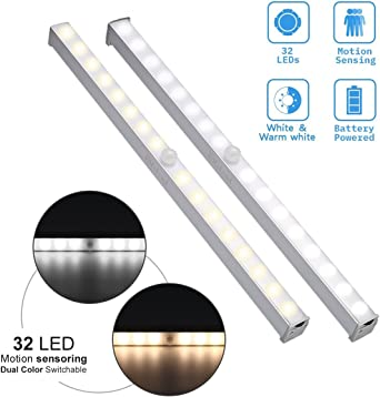 1-3x LED Unterbauleuchte Schrank Licht Bewegungsmelder Batterie Küche Nachtlicht