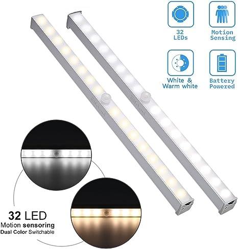 Elfeland 20 LED Schrank Kleiderschrank Nachtlichtleiste Motion Sensor