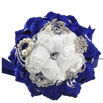 Fen Blumen Brautstrauss Brautstrauss Diamant Hochzeitsblumen 18cm