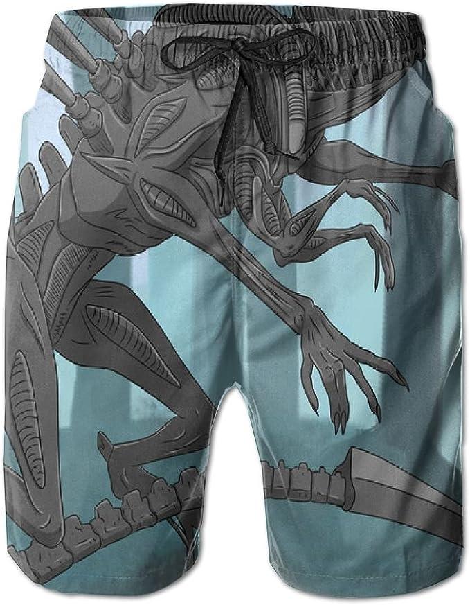 HZamora/_H Men Funny Skeleton Summer Breathable Quick-Drying Swim Trunks Beach Shorts Cargo Shorts