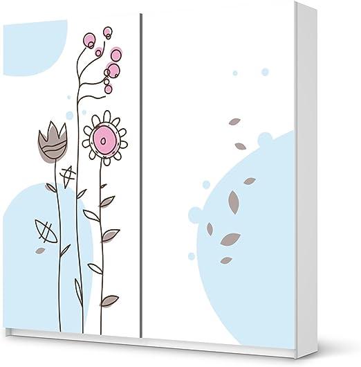 Muebles de armario IKEA Pax 201 cm de altura – Puerta corredera/Diseño Pegatinas styleful Vintage 1/etiqueta decoración: Amazon.es: Hogar