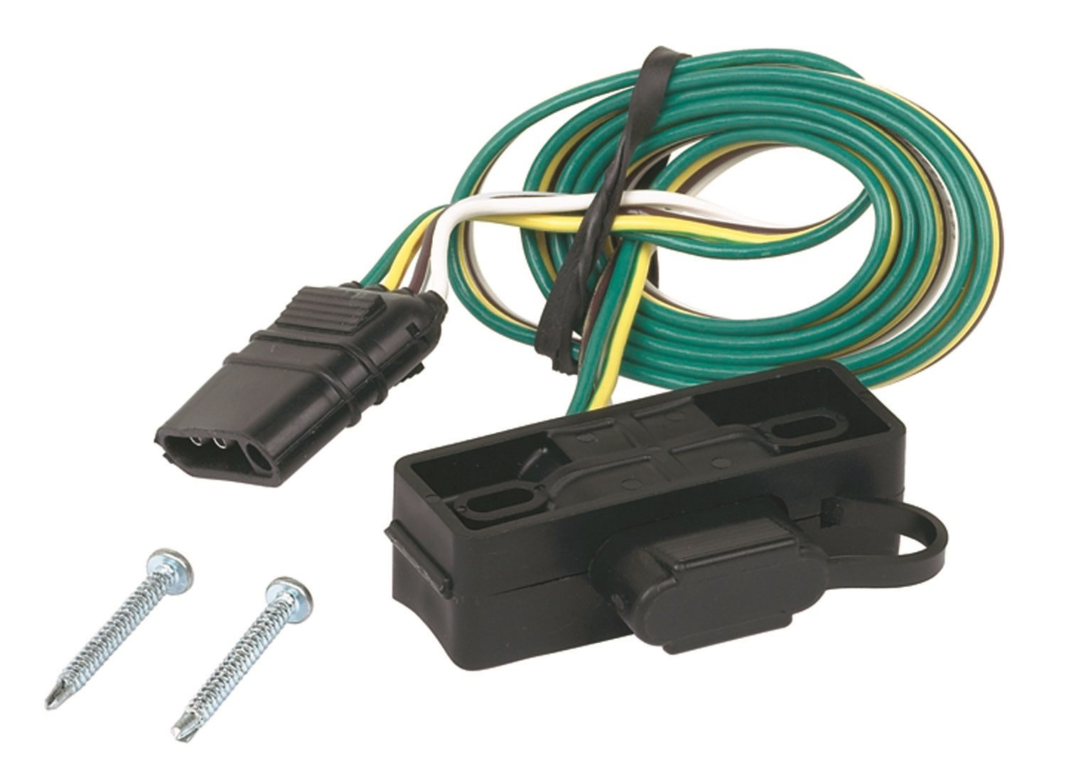 Hopkins 48595 4 Wire Flat Mounting Bracket Automotive Addition Trailer Wiring Harness Adapter On Car
