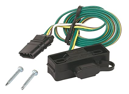 Remarkable Amazon Com Hoppy 48595 4 Wire Flat Trailer Wiring Connector Wiring Database Gentotyuccorg