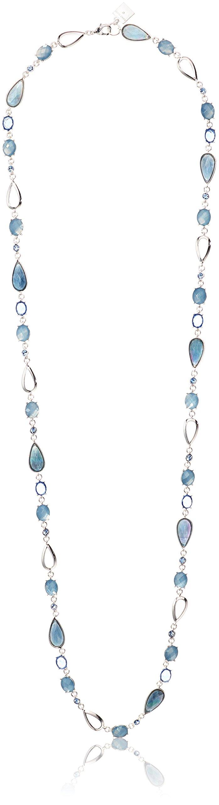 Anne Klein Silver-Tone Blue Strand Necklace, 43''