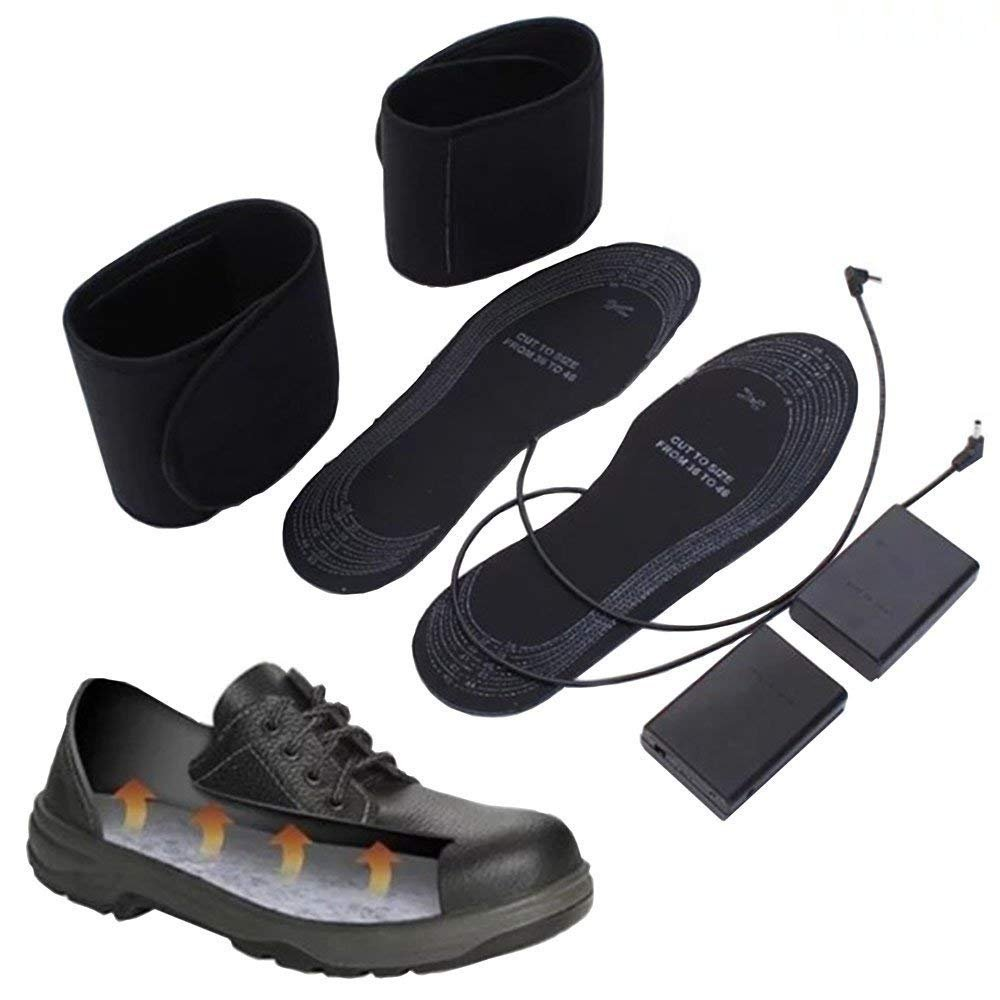 Heated Insole Power by AA Battery Heated Shoes Insoles Cut-to-Fit Sizes for Winter Fishing Camping Unisex