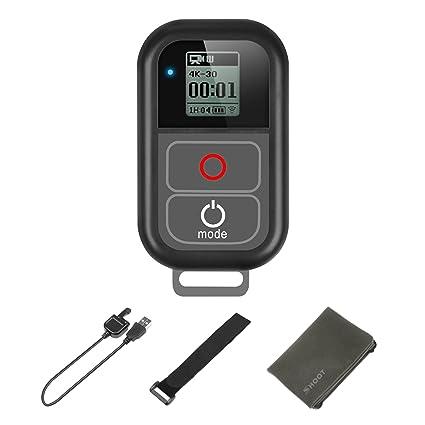 SHOOT Fernauslöser Wasserdicht WiFi Fernbedienung für GoPro Hero 7 Black/Hero 6/5/4/3+/3/Hero+LCD/4 Session mit Einem Ladekab