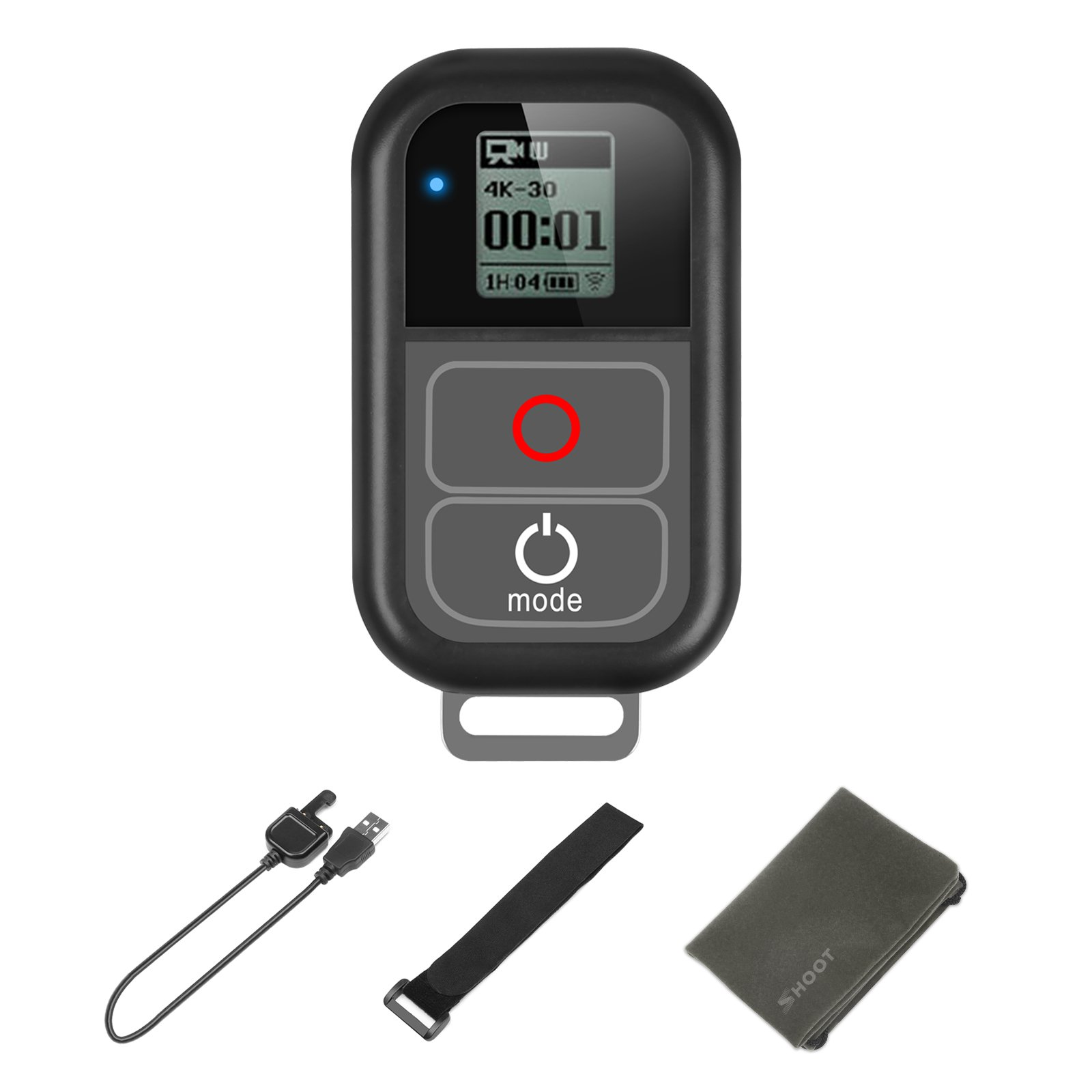 SHOOT (Waterproof up to 5m) Smart Remote Control for GoPro HERO 7 Black,6,5,4,3,3+,2,1, Hero + LCD, 4 Session, 5 Session,LCD Screen,Wi-Fi,Wirless,Built-in 500mah Battery Must Have Accessories