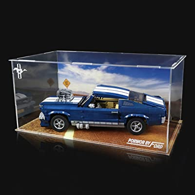 RAVPump Acrylic Display Case for Ford Mustang Model - Clear Display Box Showcase Compatible with Lego 10265 ( Lego Set not Included ): Toys & Games [5Bkhe1512596]