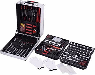 New 599 PCS Tool Set Mechanics Tool Kit Wrenches Socket w/Trolley Case