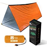 Bearhard Emergency Tent, 2 Person Tube Tent Survival Shelter with Paracord, Stakes Ultralight Survival Tent Emergency…