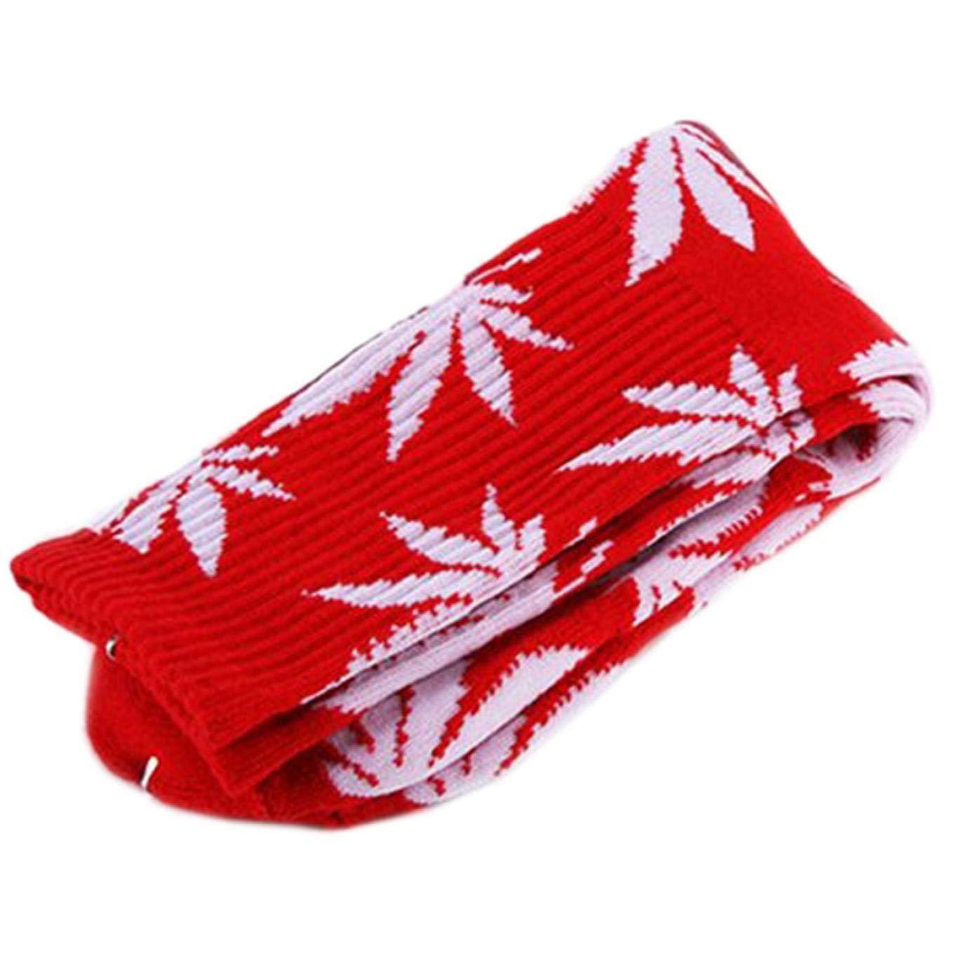 rot Gamloious Paradise Kiss 5 Farben Plantlife Marihuana Weed Leaf Baumwolle Hohe Socken Herren Damen Kn/öchel