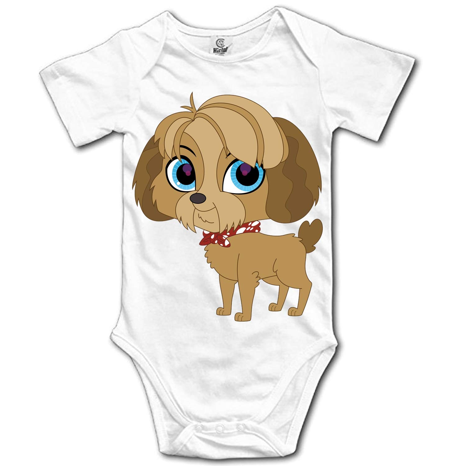ZWETTET Cute Dog Baby Gifts Bodysuits Short Sleeve