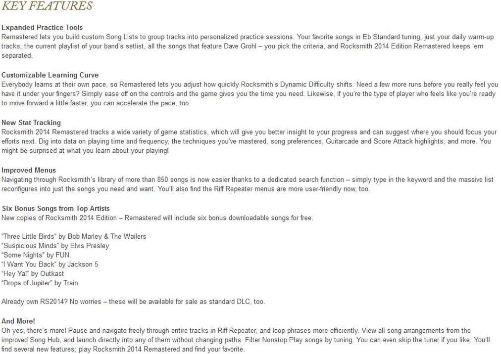 Amazon com: Rocksmith 2014 Edition Remastered - PC Standard