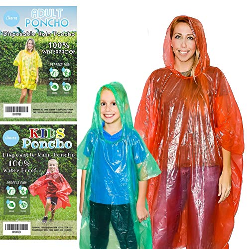 20 Pack of Family Rain Ponchos