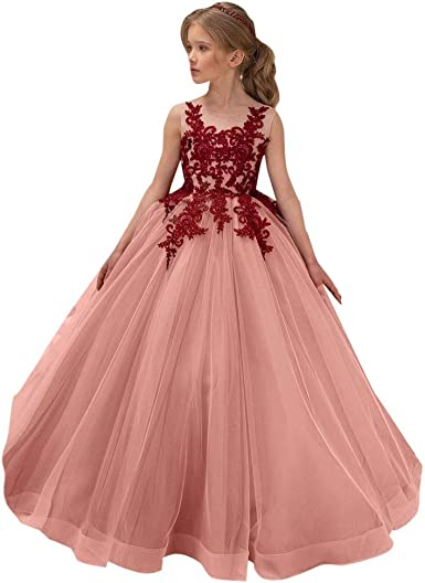Amazon Com Girls Teen Wedding Birthday Dresses Gown 5 14 Years Old Kids Children Sleeveless Lace Party Princess Dress Clothing,Cinderella Coming To America Wedding Dress