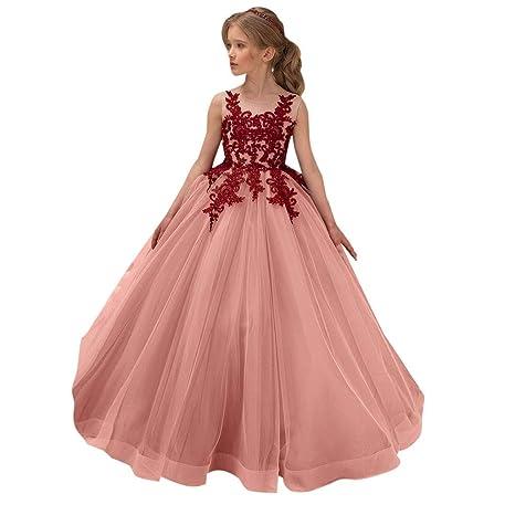 Goodjinhh Vestido De Princesa Para Fiesta De Boda Para Niña