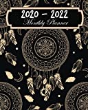 2020-2022 Monthly Planner: Ethnic Dreamcatcher, Monthly Schedule Organizer For Large 3 Year Agenda Planner With Inspirational Quotes And Holiday