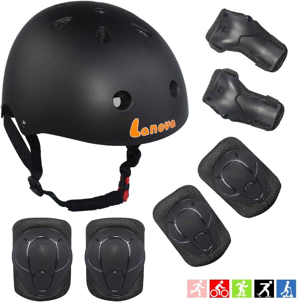 ArgoHome Kids Helmet Protective Gear Set Toddler Helmet Kids Knee Pads for 3-8 Years Toddler Youth Bike Skateboard Helmet Knee Elbow Wrist Pads for Roller Bicycle Bike Skateboard